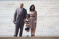 Martin Luther King III, épouse et fille Images libres de droits