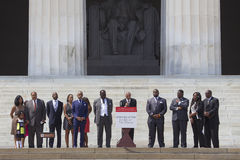 Martin Luther King III, Al Sharpton i lidery Krajowa akcja, Obrazy Royalty Free