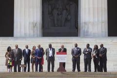 Martin Luther King III, Al Sharpton y líderes de la acción nacional Imágenes de archivo libres de regalías