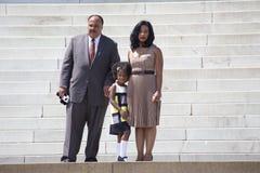 Martin Luther King III, fru och dotter Royaltyfria Bilder