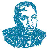 Martin Luther King Illustration Royalty Free Stock Photography