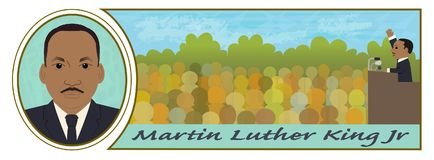 Martin Luther King Jr libre illustration