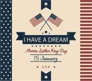 Martin Luther King Jr carte de jour Image libre de droits