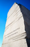 Martin Luther King Jr commémoratif photo stock