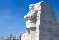 Martin Luther King Jr commemorativo Fotografia Stock Libera da Diritti