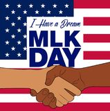 Martin Luther King Jr. Day background.Illustration of Martin Luther King, Jr. to celebrate MLK day. Stock Photo