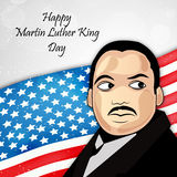 Martin Luther King, Jr. Day background. Illustration of U.S.A Flag for Martin Luther King, Jr. Day stock illustration