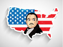 Martin Luther King, Jr. Day background. Illustration of U.S.A Flag for Martin Luther King, Jr. Day Stock Image