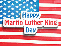Martin Luther King, Jr. Day background. Illustration of U.S.A Flag for Martin Luther King, Jr. Day Stock Images