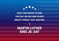 Martin Luther King Jr Day-Feiertagsvektorhintergrund stock abbildung