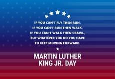 Martin Luther King Jr Day-Feiertagsvektorhintergrund Lizenzfreies Stockbild