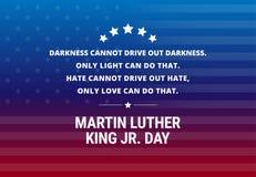 Martin Luther King Jr Day-Feiertagsvektorhintergrund - inspiratio stock abbildung