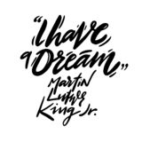 Martin Luther King Jr Day hand drawn vector lettering. Holiday poster vector illustration