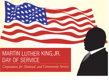 Martin Luther King, JR. Day. Of service corporation for national and community service vector illustration