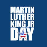 Martin Luther King JR day sign blue background Royalty Free Stock Photos