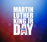 Martin Luther King JR day sign. Illustration booked background vector illustration