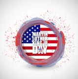 Martin Luther King JR day sign seal Royalty Free Stock Photography