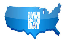 Martin Luther King JR day sign us map Royalty Free Stock Photo