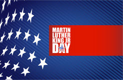 Martin Luther King JR day sign us stars Stock Photos