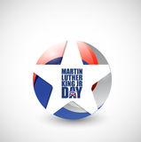 Martin Luther King JR day us star sign Royalty Free Stock Photo