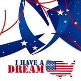 Martin Luther King Jr .i heeft een droom royalty-vrije stock afbeeldingen