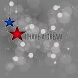 Martin Luther King Jr .i heeft een droom stock afbeeldingen