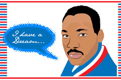 Martin Luther King Jr .i ont un rêve Image libre de droits