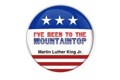 Martin Luther King Jr .ive été jusqu'au dessus de montagne Photographie stock