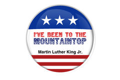Martin Luther King Jr.ive been to the mountain top Stock Photography