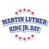 Martin Luther King Jr logotipo del día Fotos de archivo