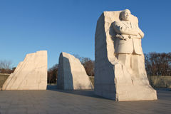 Martin Luther King, Jr. Memorial. The entry portal of the MLK memorial consists of two stones parted with a single stone wedge pushed forward toward the horizon Stock Image