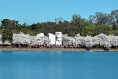 Martin Luther King Jr. Memorial. During the Cherry Blossom Festival. Washington, DC stock photo