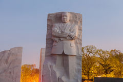 Martin Luther King Jr. Memorial Statue. Night Washington DC royalty free stock photo