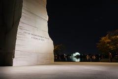 Martin Luther King Jr Memorial Statue Washington DC Night Evenin. G Closeup Stock Images