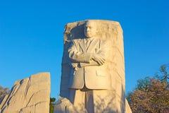 Martin Luther King Jr Memorial in Wishington DC, USA. WASHINGTON DC, USA - MARCH 29, 2016: Martin Luther King Jr Memorial in Washington DC at sunrise on April 13 stock photo