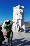 Martin Luther King, jr.-minnesmärke i Washington DC, USA Arkivbilder