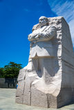 Martin Luther King JR Monument. With blue skys, green trees and white clouds Royalty Free Stock Image