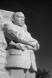 Martin Luther King Jr. statue. Carved stone statue of Martin Luther King Jr. at the National Mall in West Potomac, Washing ton DC stock photography