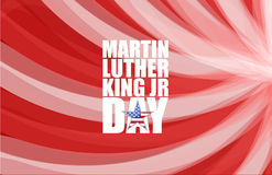 Martin Luther King-JR.-Tageszeichen stock abbildung