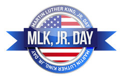 Martin Luther King Jr. us seal and banner stock photos