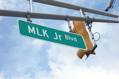 Martin Luther King Jt Boulevard photo libre de droits