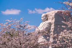 Martin Luther King Junior Memorial in Washington D C , de V stock afbeelding