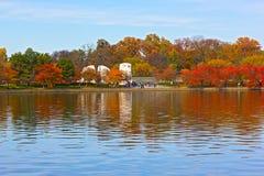 The Martin Luther King Memorial in autumn. Stock Photos