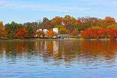 Martin Luther King Memorial in autunno Fotografie Stock