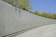 Martin Luther King Memorial i Washington DC - WASHINGTON DC - COLUMBIA - APRIL 7, 2017 Arkivbild