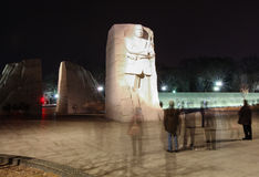 Martin Luther King Memorial Illuminated at Night Royalty Free Stock Photography