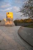 Martin Luther King Memorial. A large solid granite statue commemorates the life and accomplishments of the Reverend Doctor Marin Luther King, Jr.. The statue is royalty free stock image