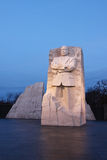 Martin Luther King Memorial at Sunrise. The entry portal of the MLK memorial consists of two stones parted with a single stone wedge pushed forward toward the Stock Photography