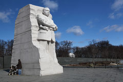 Martin Luther King Memorial Washington DC. The entry portal of the MLK memorial consists of two stones parted with a single stone wedge pushed forward toward the Royalty Free Stock Photography