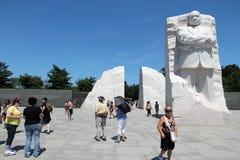 Martin Luther King memorial. WASHINGTON DC, USA - JUNE 15, 2013: Tourists visit Martin Luther King memorial in Washington. 18.9 million tourists visited capital royalty free stock photography